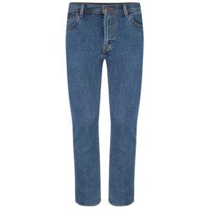 Wrangler stretch jeans regular fit blauw