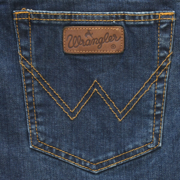Wrangler stretch jeans regular fit donkerblauw