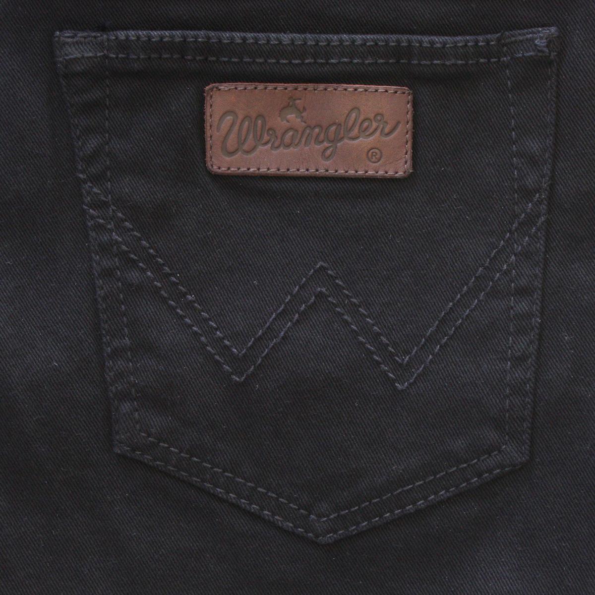 Wrangler stretch jeans regular fit black overdye